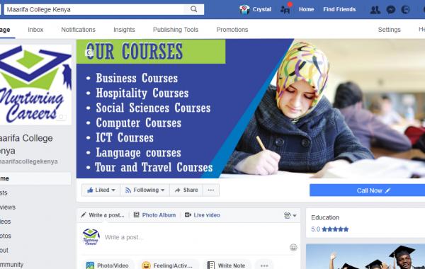 maarifa college facebook marketing campaign